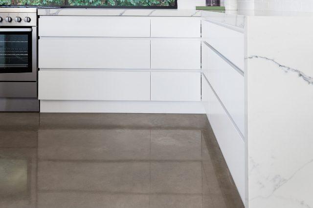 Concrete Polish of a kitchen floor